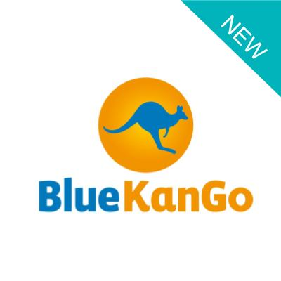 BlueKango logo with a New label and the name BlueKango