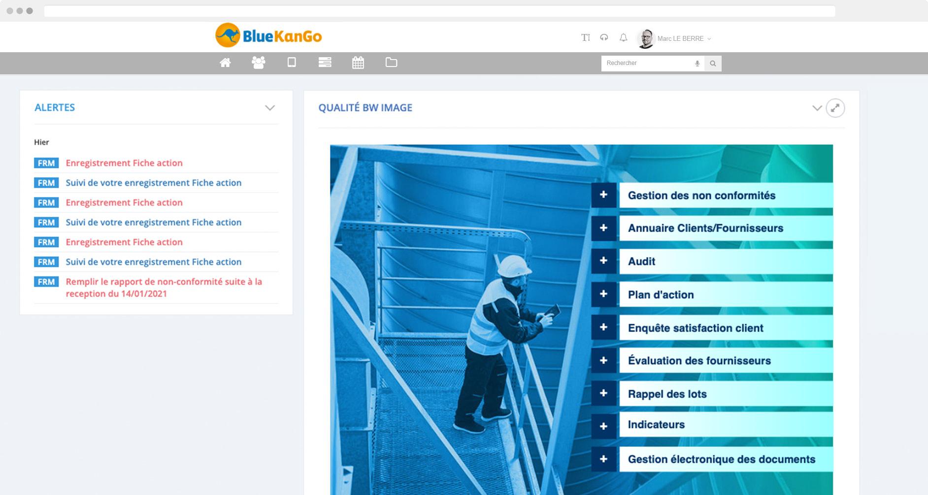 Capture d'écran de la plateforme BlueKanGo Canada
