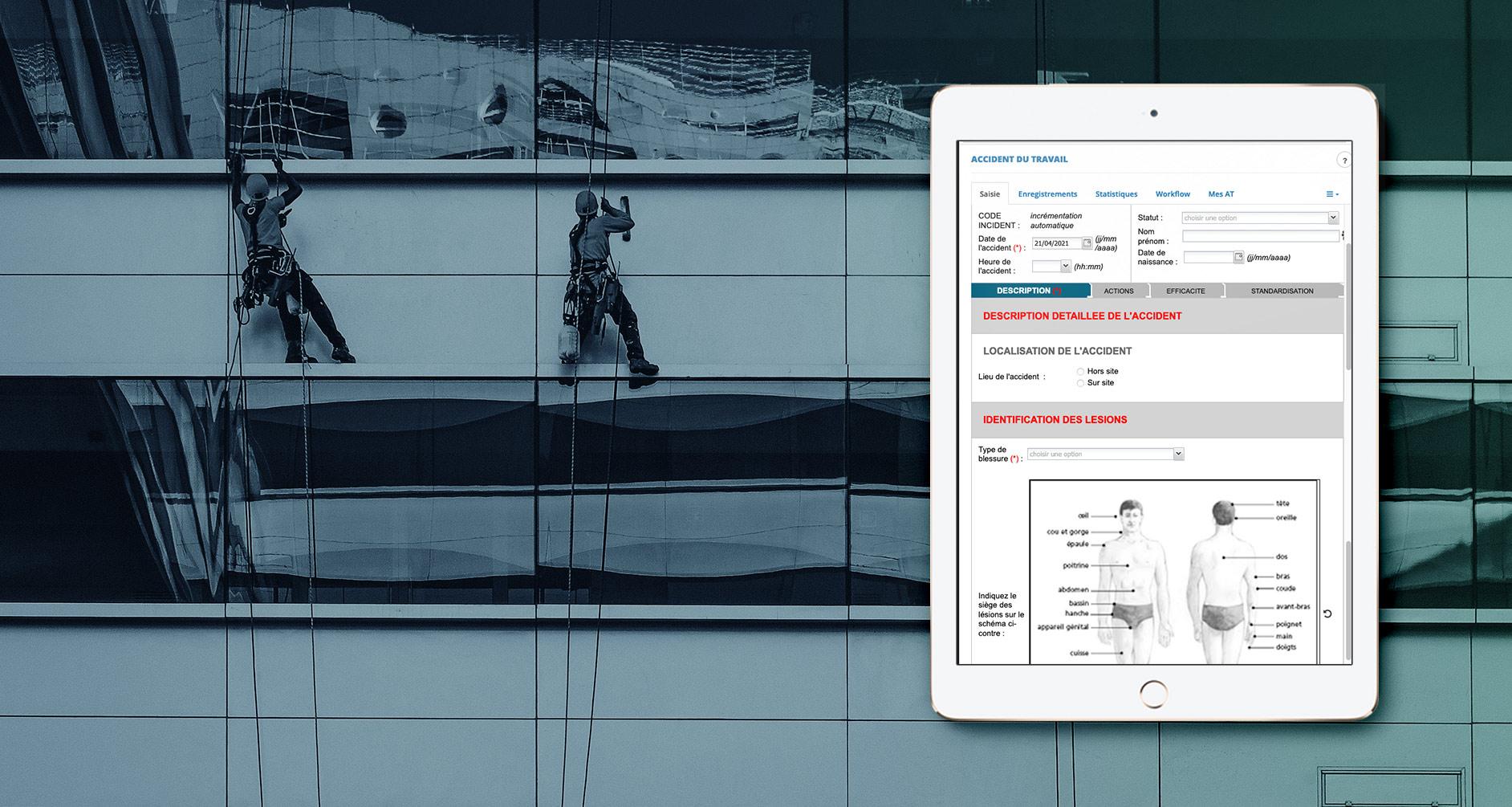Aperçu de la version mobile de l'application AT MP de BlueKanGo Canada