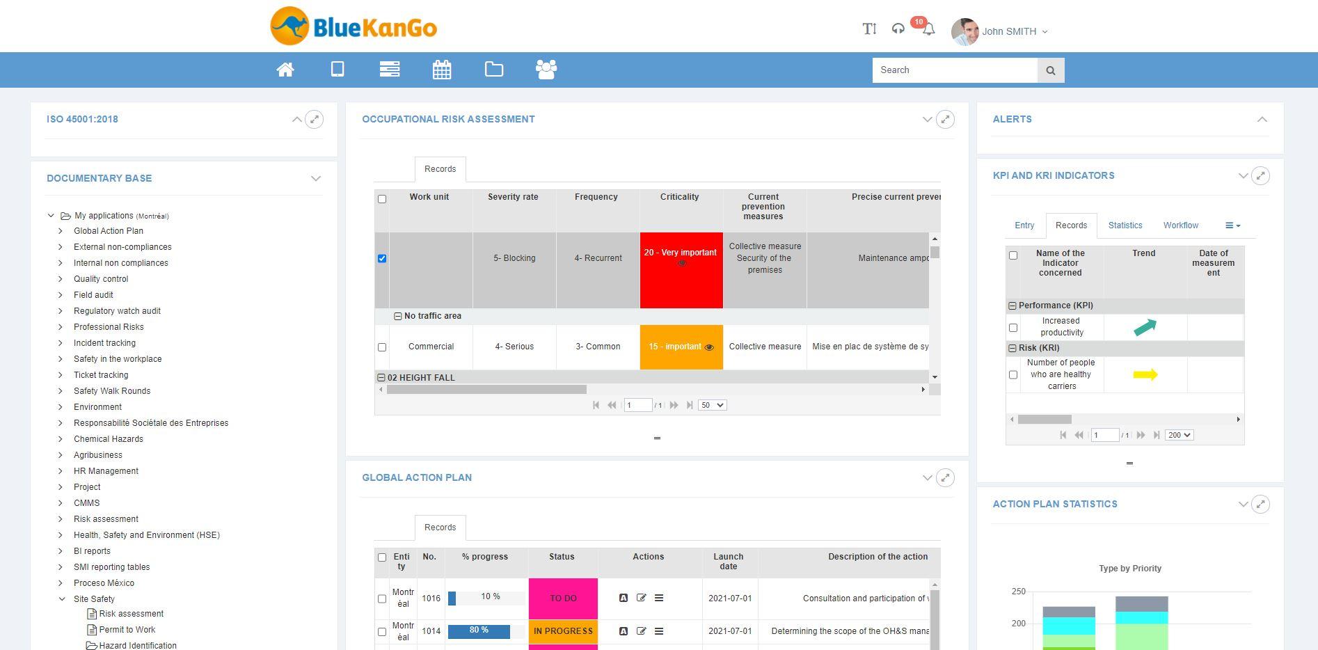 ISO 45001 with Bluekango platform